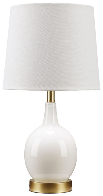 Arlomore White Glass Table Lamp (1/CN)