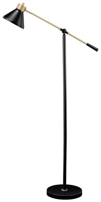 Garville Black/Gold Finish Metal Floor Lamp (1/CN)