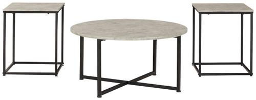 Lazabon Gray/Black Occasional Table Set (3/CN)