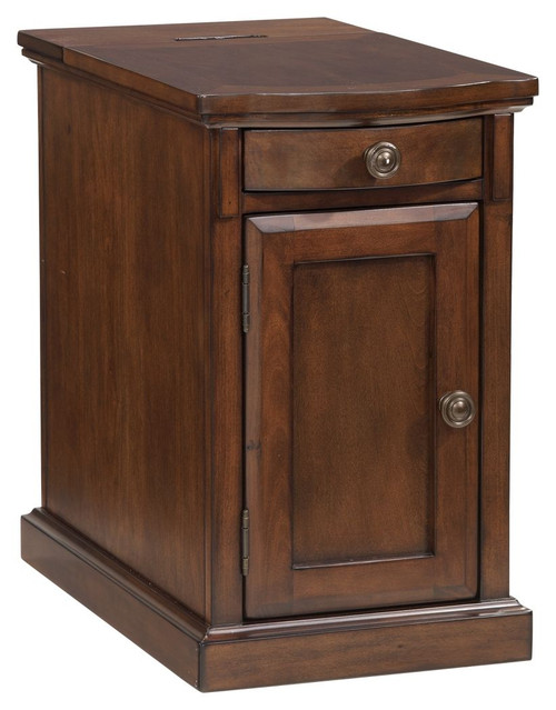 Laflorn Medium Brown Chair Side End Table (Currently Unavailable)