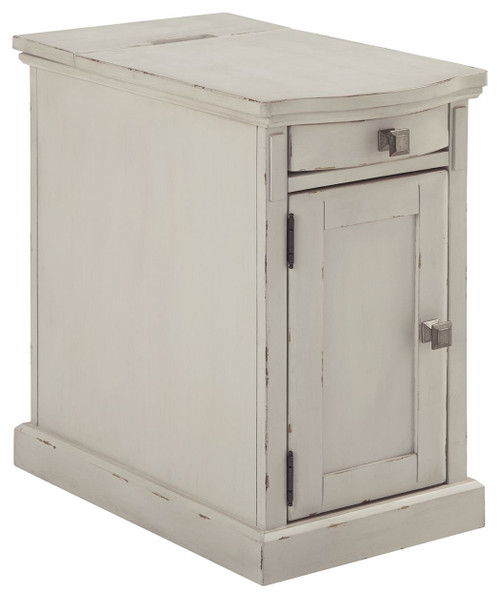 Laflorn White Chair Side End Table (Currently Unavailable)
