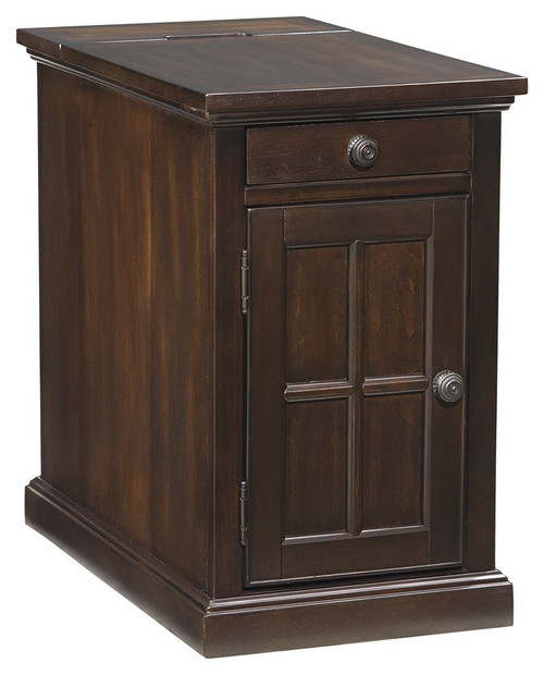 Laflorn Dark Brown Chair Side End Table (Currently Unavailable)