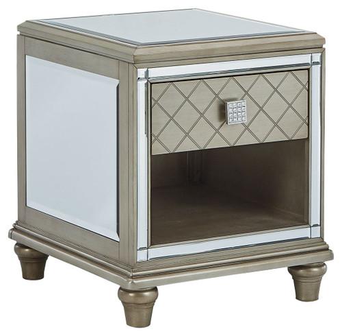 Chevanna Platinum Rectangular End Table