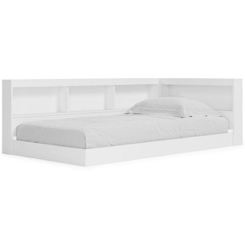 Piperton White Twin Bookcase Storage Bed