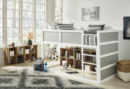 Romanton Gray/White Twin Loft Bed