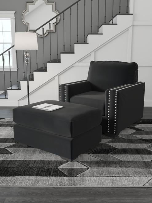 Gleston Onyx 2 Pc. Chair, Ottoman