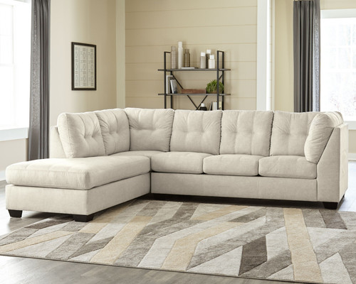 Falkirk Parchment Sleeper Sectional with Chaise