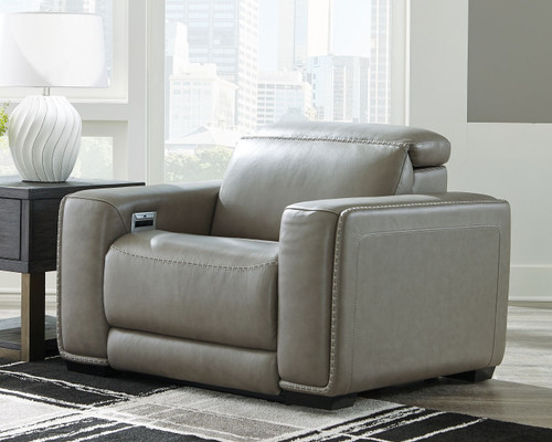 Correze Gray Recliner with Power