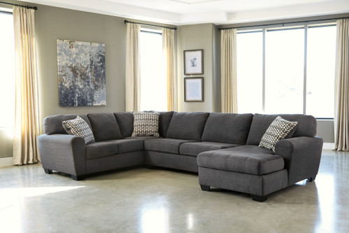 Ambee Slate Left Arm Facing Sofa, Armless Loveseat, Right Arm Facing Corner Chaise Sectional