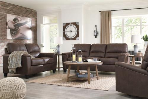 Navi Chestnut 3 Pc. Sofa, Loveseat, Recliner
