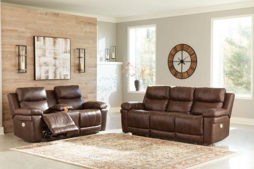 Edmar Chocolate 2 Pc. Power Reclining Sofa with Adjustable Headrest, Power Reclining Loveseat/CON/Adjustable Headrest