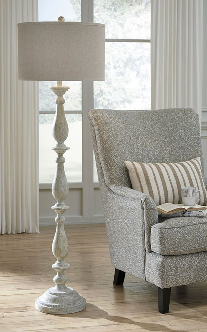Bernadate Whitewash Poly Floor Lamp (1/CN)