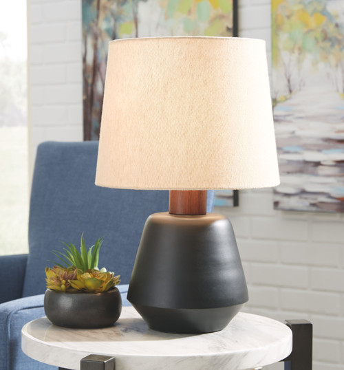 Ancel Black/Brown Metal Table Lamp (1/CN)