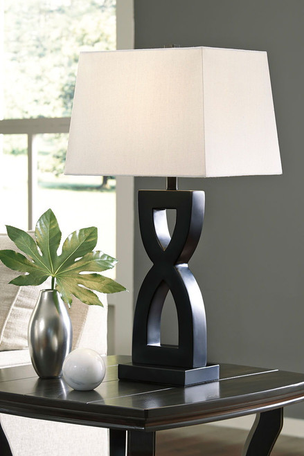 Amasai Black Poly Table Lamp