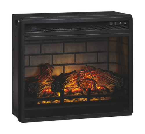 Entertainment Accessories Black Fireplace Insert Infrared