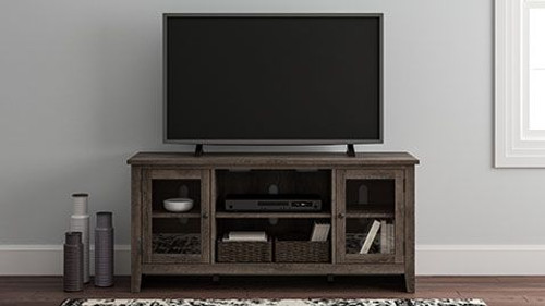 Arlenbry Gray LG TV Stand w/Fireplace Option