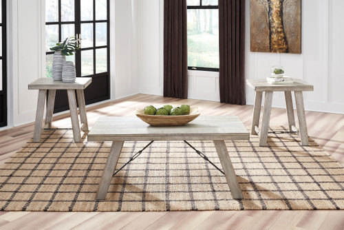 Carynhurst Whitewash Occasional Table Set (3/CN)