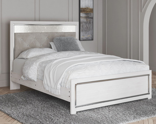 Altyra White Queen Panel Bed
