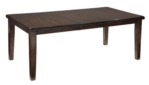 Haddigan Dark Brown Rectangular Dining Room Extension Table
