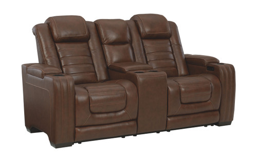 Backtrack Chocolate Power Reclining Loveseat/CON/ADJ HDRST
