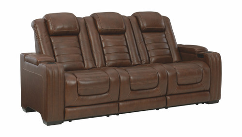 Backtrack Chocolate Power Reclining Sofa with ADJ Headrest