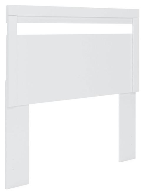 Flannia White Full Panel Headboard