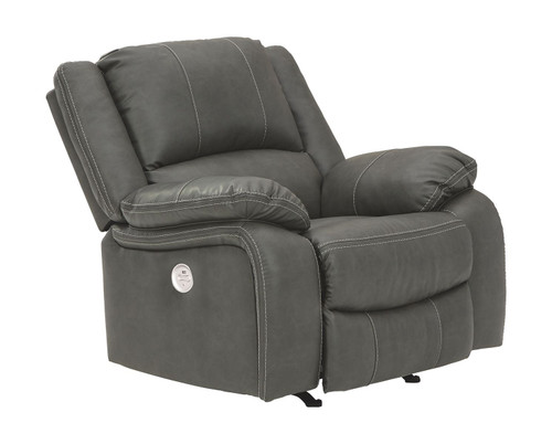Calderwell Gray Power Rocker Recliner