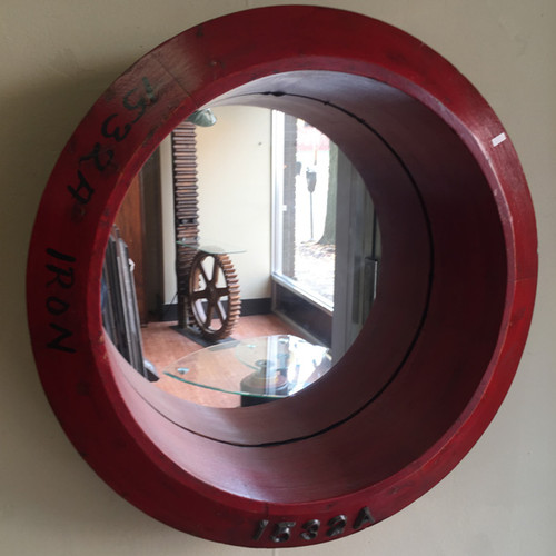 US Steel Wood Pattern Mirror