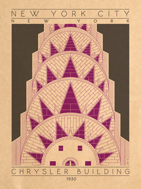 "Chrystler Building Print 12 1/2"" x 19"" on Vellum Paper"
