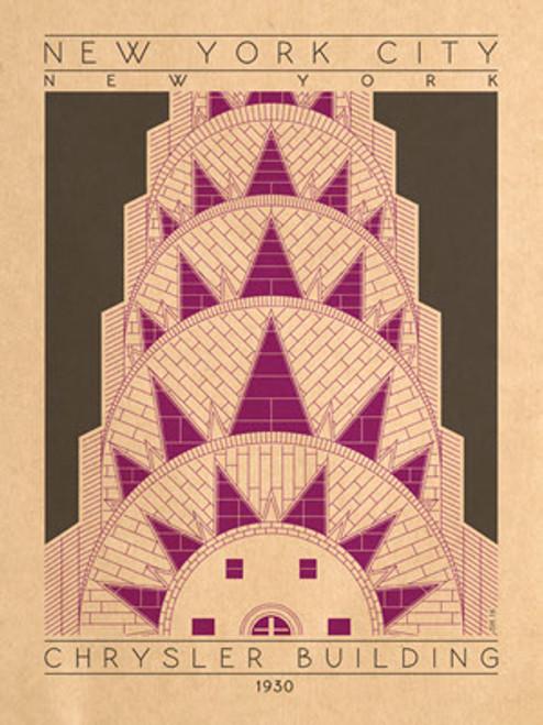 "Chrystler Building Print 12 1/2"" x 19"" on Vellum Paper"