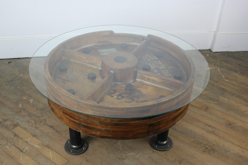 Bethlehem Steel Wood Pattern Coffee Table 2