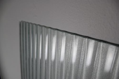 "Salvaged Corrugated Glass Panel 24"" x 59"""