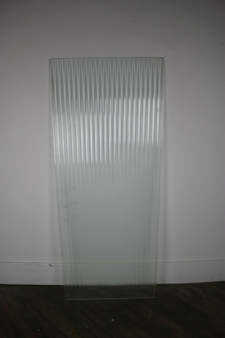 "Salvaged Corrugated Glass Panel 24"" x 59"""
