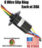 WIND GENERATOR SLIP RING 6 WIRE 180 AMP