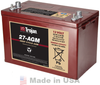 Trojan 27-AGM 12V, 89AH (20HR) AGM Sealed Battery