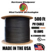 PV Cable 10 AWG 600 Volt Solar PV Wire (MC4 compatible) 500FT Double-Insulated BLACK