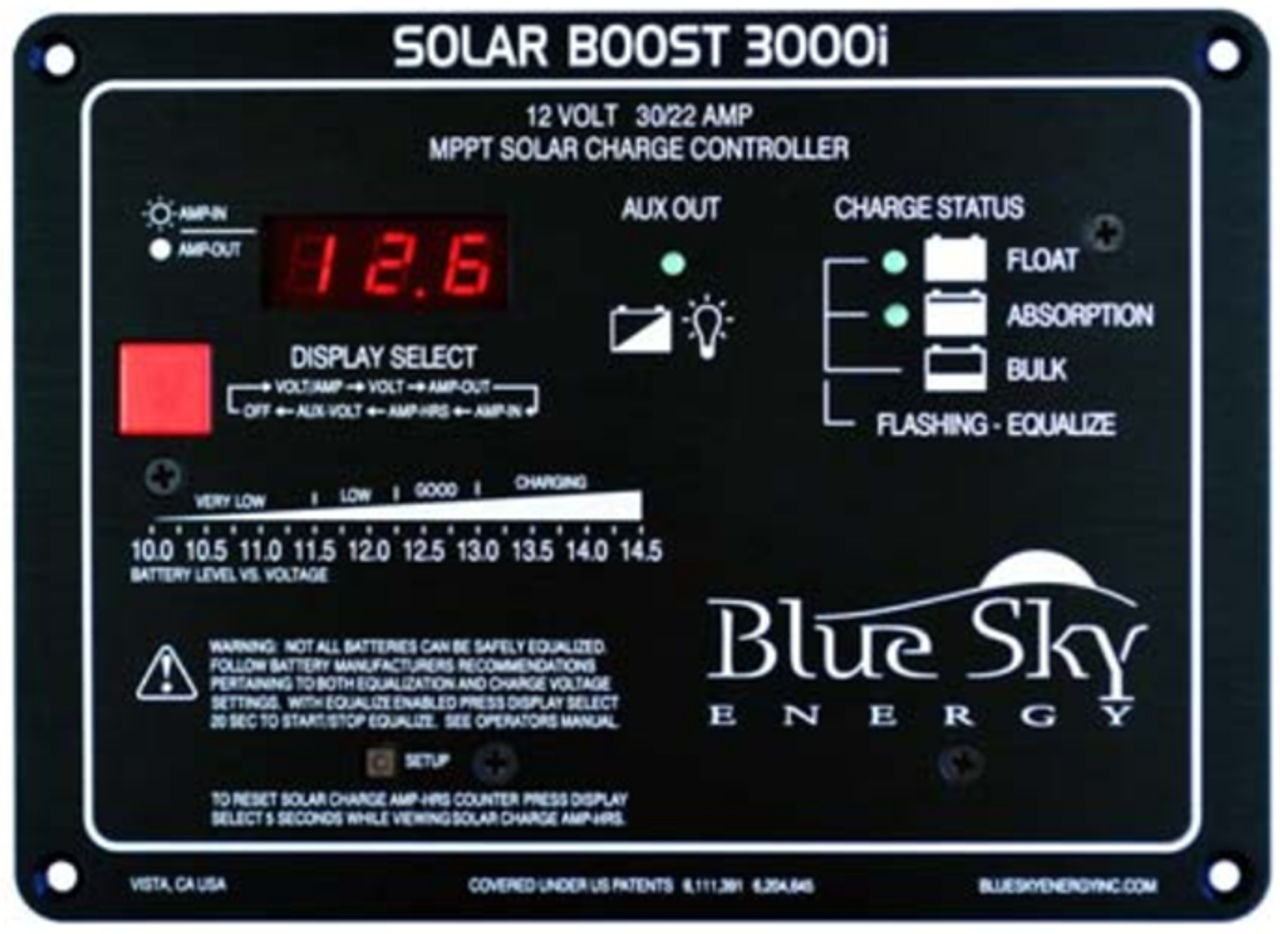 Blue Sky Solar Boost 3000i MPPT Solar Charge Controller, 30A, 12V