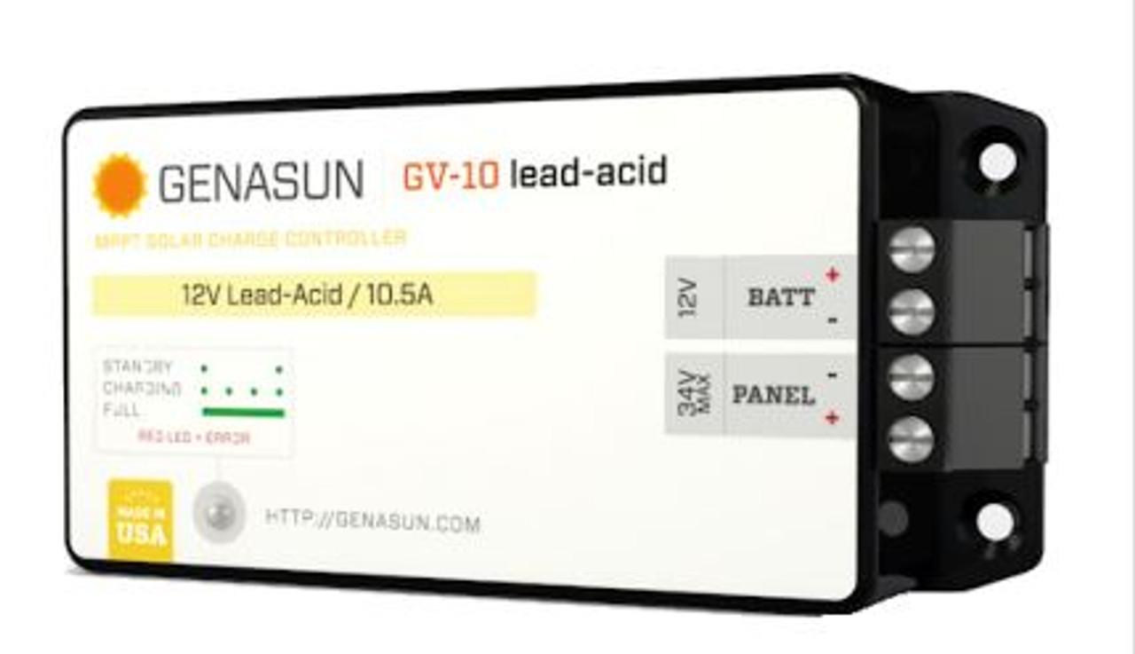 GENASUN GV-10-PB-12V, 10.5A MPPT CONTROLLER FOR 12V LEAD ACID BATTERIES