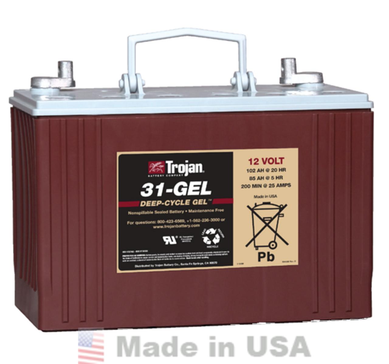 Trojan 31-GEL 12V, 102AH (20HR) Gel Battery