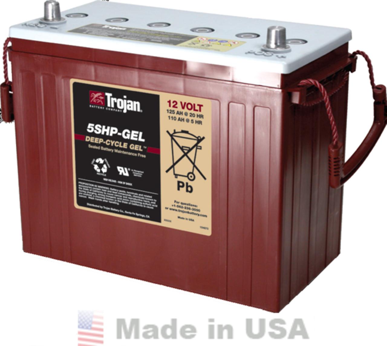 Trojan 5SHP-GEL 12V, 125AH (20HR) Gel Battery