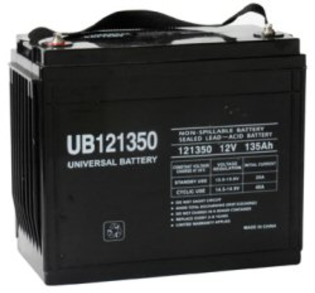 Universal Ub121350 12V 135Ah (20Hr) Sealed Agm