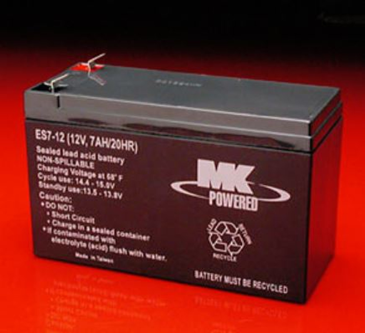 MK Battery ES7-12 12V 7.2AH Sealed Lead Acid Battery