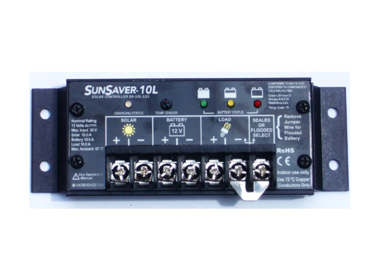 Morningstar SunSaver SS-10L-12V 10A, 12V Solar Charge Controller w/LVD (Gen 3)