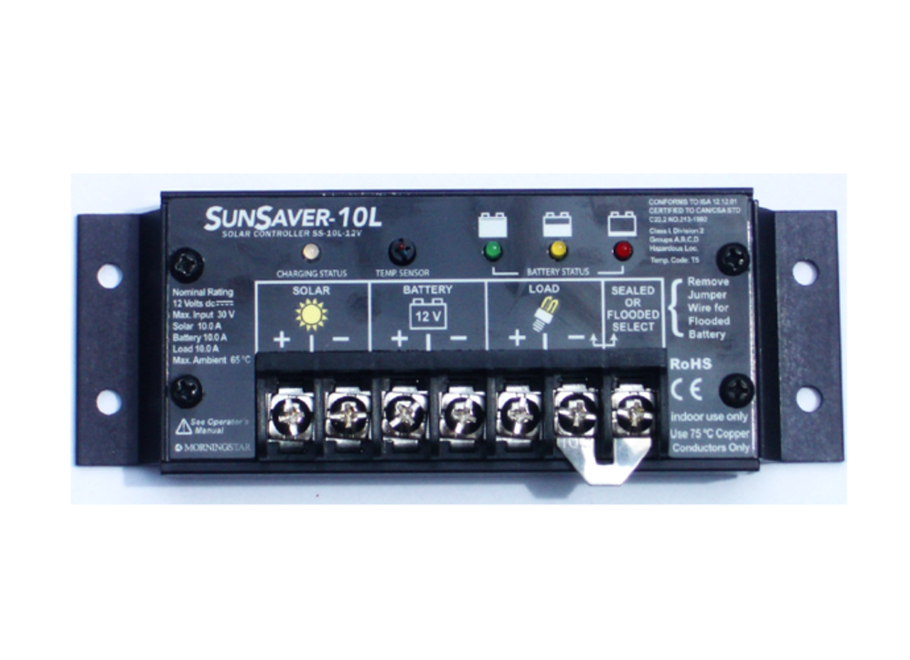 Morningstar SunSaver SS-20L-24V 20A, 24V Solar Charge Controller w/LVD (Gen3)