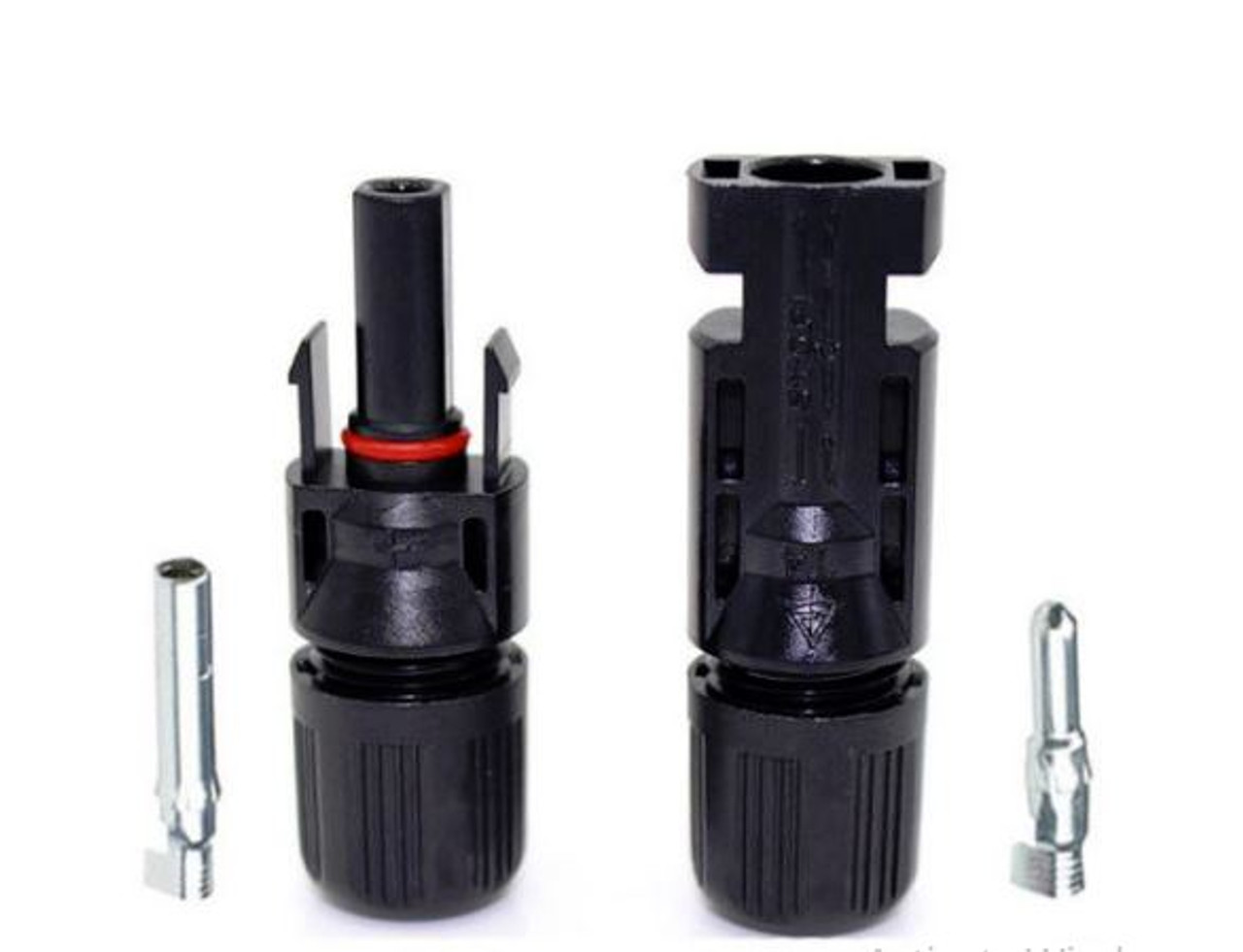 Economical 6MM Solar Connectors 10-14 AWG PV Wire for Solar Panel (1 Set) Comparable to MC4