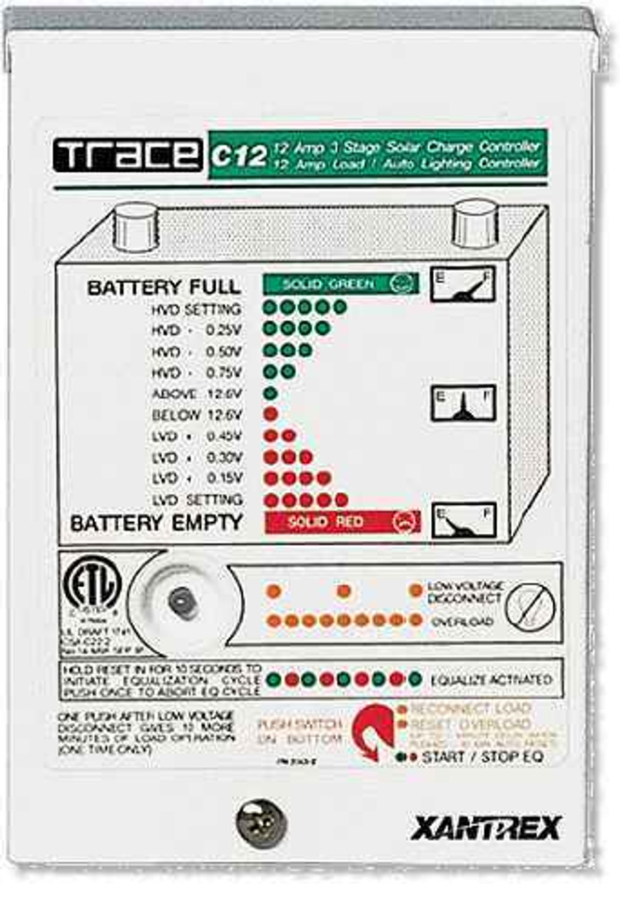 Xantrex C12 Solar Charge Controller 12A, 12 VDC