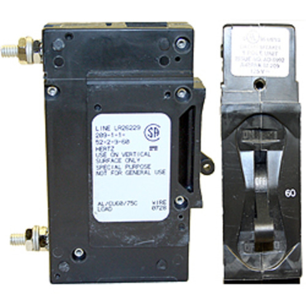 Xantrex CD60DC, 60A DC Panel Mount Breaker