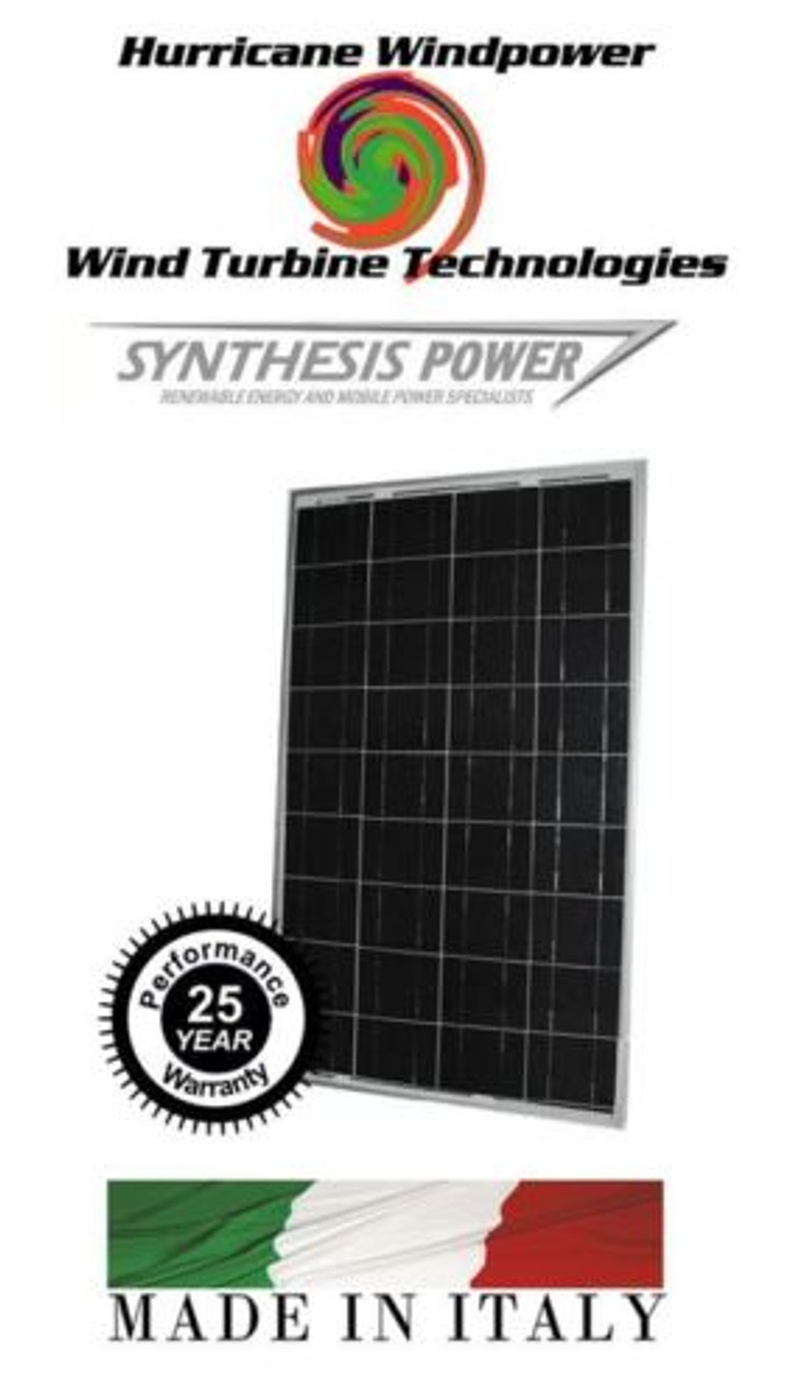 Synthesis Power 100 Watt Solar Panel Multi Crystaline Off grid Boat and RV