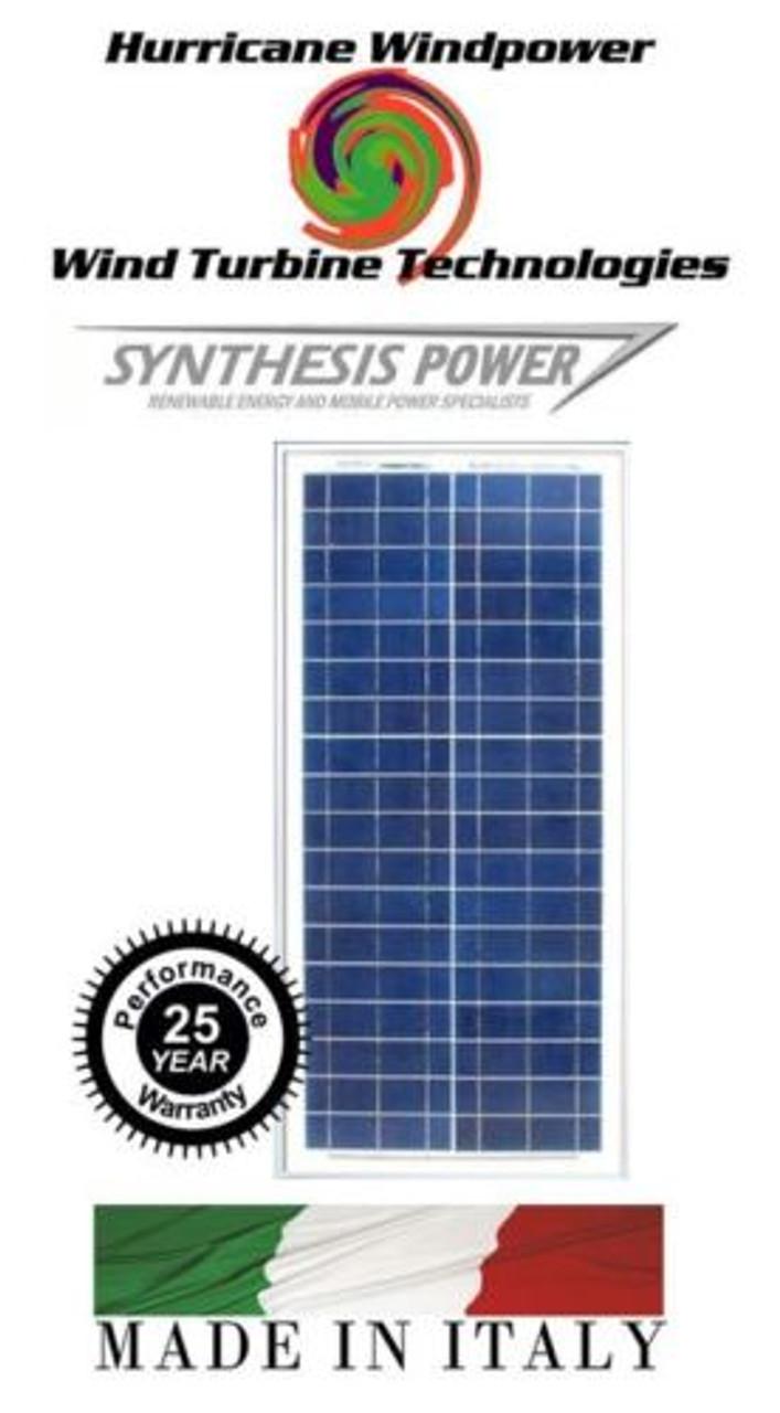 30W PEIMAR/SYNTHESIS 12V Poly-Crystalline Solar Panel 30 Watt Off Grid RV Marine