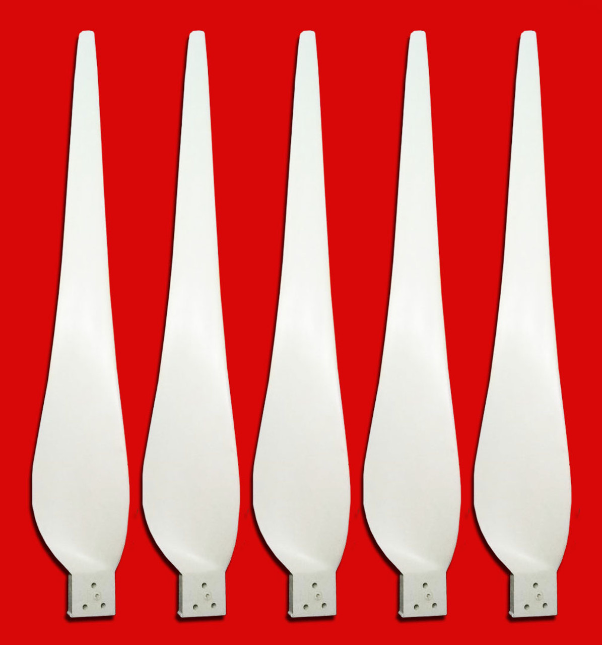 Hurricane Wind Power (Set of 5) 40 Inch Wind Turbine Generator Stealth Storm Wind Turbine Blade Set
